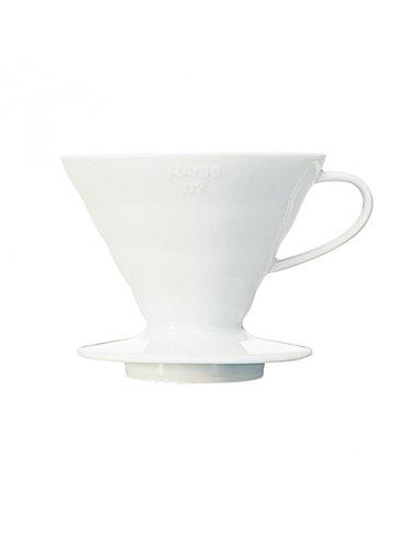 Hario V60 02 Ceramic Coffee Dripper White