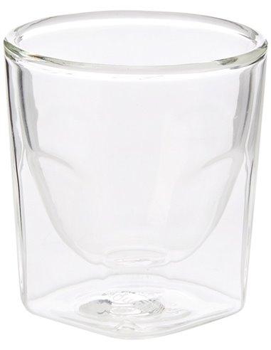 كأس برويستا الزجاجي المربع بجدار مزدوج ٦٠ مل