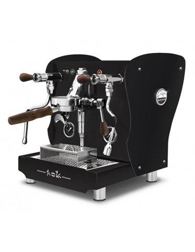 آلة الإسبريسو أوركستريل نوتا بجوانب خشبية سوداء